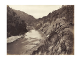 Manawatu Gorge 1 Mile from Bridge  1878