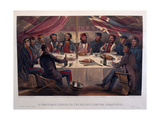 A Christmas Dinner on the Heights before Sebastopol  Engraved by JA Vinter  from 'The Seat of…