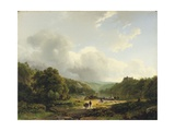 Unloading the Barge in an Undulating Landscape  1831