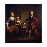 Portrait of Richard Boyle  3rd Earl of Burlington  with His Three Sisters  Elizabeth  Juliana and…