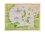 Fol30V Map of the Sea of Maluku  from the 'Cosmographie Universelle'  1555