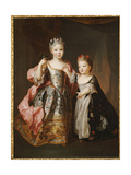 Portrait of Two Young Girls  Said to Be Adelaide and Victoire  Daughters of Louis Xv