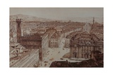 View of Piazza Di San Firenze and Piazza Santa Croce  Florence