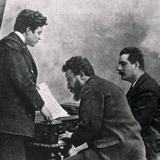 The Composers Pietro Mascagni  Albero Franchetti and Giacomo Puccini at the Piano  19th-20th…