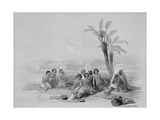 Abyssinian Slaves Resting at Korti  Nubia  1847