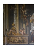 Detail of the West Wall of the Painted Hall  C1707-27