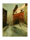 A Winter Street Scene  Montreuil  1894