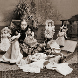 Girl Playing with Dolls  1890