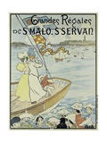 Poster Promoting the St Malo and St Servan Regatta  C1895