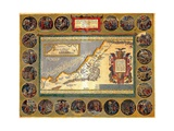 Map of the Holy Land  from 'Atlas Sive Cosmographicae Meditationes' by Henricus Hondius …
