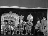 Characters from the Ramayana as Yakshagana Puppets