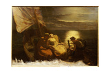 The Escape of Glaucus and Ione  with the Blind Girl Nydia  from Pompeii  1860