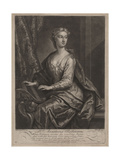 Mrs Anastasia Robinson  Engraved by John Faber the Younger (C1695-1756)  1727