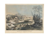 American Winter Scenes - Morning  Printed and Published by Nathaniel Currier (1813-88)  1854