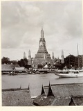 Wat Arun with Chao Phraya River  1890
