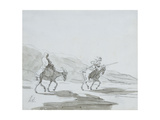 Don Quixote and Sancho Panza  C1865