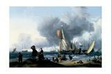 Dutchmen Embarking onto a Yacht  C1670