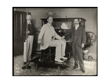Prizefighter Robert Prometheus Fitzsimmons at Dr Woodbury's Office in New York  1895