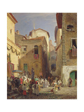 Festival of Our Lady at Gennazzano  Roman Campagna  Italy  1865