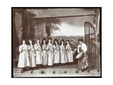 "A Scene from an Amateur Production of a Play Titled ""Angelina  the Orphaned Heiress"" Presented at…"