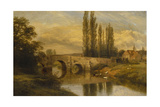 Fittleworth Old Mill and Bridge  on the Rother  Sussex  1880