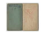 Inside Cover and Front Page from a Sketchbook  'sketchbook of My Mother Berthe Morisot  Mezy …
