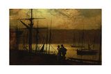Outward Bound - a View of Whitby  1887