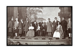 """The Cast of an Amateur Production of a Play Titled """"The Old Heads and Young Hearts """" Presented at…"""