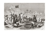 Stanley's Attack on Zimbizo During His Expedition in 1871  Illustration from 'The World in the…