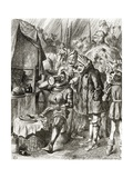Illustration after J Tenniel for the Poem 'The Cynotaph'  from 'The Ingoldsby Legends or Mirth…
