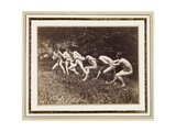 Male Nudes in Standing Tug of War  Outdoors  C1883