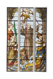King Francois of France and His Wife Eleonore Praying  from a 16th Century Stained Glass Window…