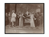 A Scene from an Amateur Production of an Unidentified Play Presented at Barnard College  New York