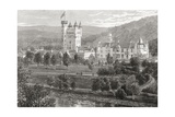 Balmoral Castle  Aberdeenshire  Seen from the River Dee  from 'scottish Pictures Drawn with Pen…