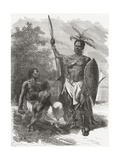 A Native of Ougogo  Central Africa  in War Dress  Illustration from 'The World in the Hands' …