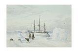 Hms Enterprise in Winter Quarters  Camden Bay  North Coast of America  C1850-55