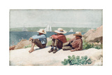 Watching the Ships  Gloucester  1875