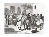 The Slave Market in Zanzibar  Tanzania  East Africa  Illustration from 'The World in the Hands' …