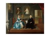 Reverend Streynsham Master and His Wife  Margaret of Croston  Lancashire  1743-44