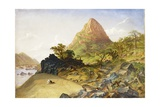 Mount Stephanie  Above Kabrabasam  Zambezi River  1859
