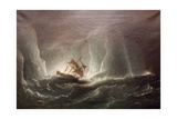 Hms Erebus and Terro  Escape from the Bergs  13 March 1842  1863
