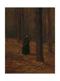 Old Woman Gathering Brush  1865