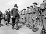 Winston Churchill Inspects Home Guard Personnel in Hyde Park  London  14th July 1941