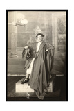 "A Young Actor in the Costume of Julius Caesar of the Set of an Amateur Production of ""Julius…"