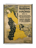 Poster Advertising 'Internationale Austellung Zu Madrid'  1893