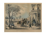 American Country Life- Pleasures of Winter  Printed and Published by Nathaniel Currier (1813-88) …
