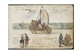 Laing Ms III 283  Fol201R  Wind Powered Wagon in Holland  from the 'Album Amicorum' of Michael…