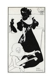 Pierrot as Caddie' Design for a Golf Club Card  1894