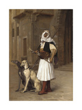 Arnaute with Two Whippets  1867