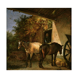 A Barnyard with Two Plough Horses  1649